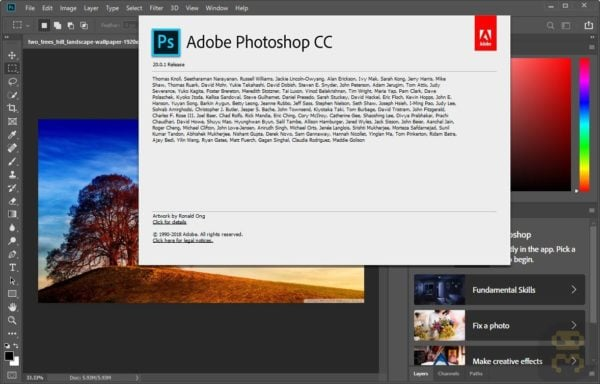 دانلود Adobe Photoshop CC 2019 v20.0.1 - جدیدترین نسخه فتوشاپ + کرک