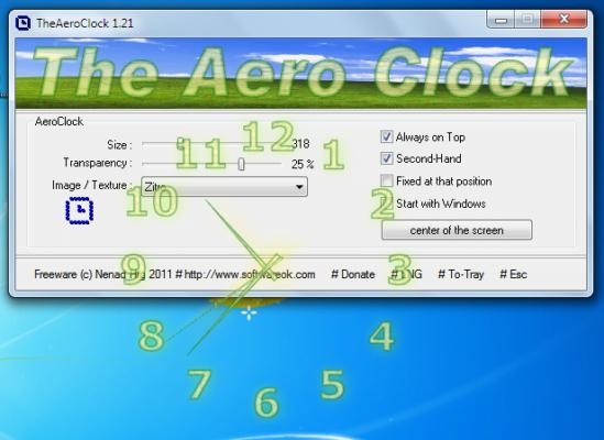 دانلود TheAeroClock v5.25 - ساعت آنالوگ مخصوص دسکتاپ