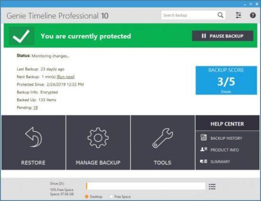 دانلود Genie Timeline Pro 2018 10.0.3.300 - نرم افزار قدرتمند بکاپ گیری