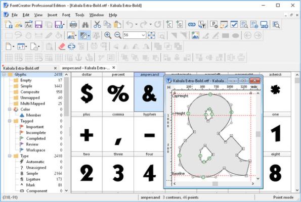دانلود High-Logic FontCreator Pro 12.0.0.2545 - نرم افزار ویرایش و ساخت فونت