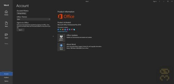 دانلود آفیس Microsoft Office 2019 Pro Plus v2006 + کرک