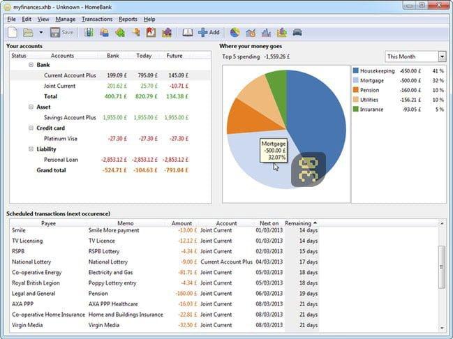 دانلود HomeBank 5.4.2 - مدیریت مخارج و بوجه شخصی