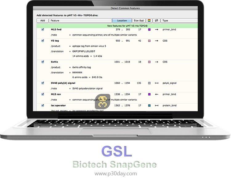 دانلود GSL Biotech SnapGene 3.2.1 - زیست شناسی مولکولی