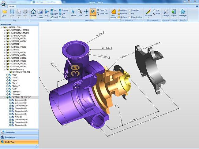دانلود Geometric Glovius Pro 5.1.0.698 - مدیریت فایل های CAD