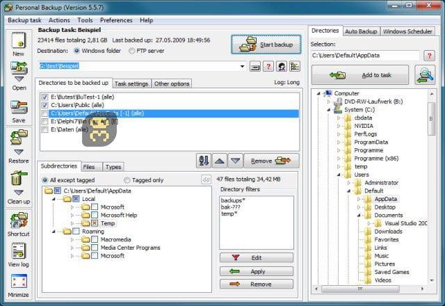 دانلود Personal Backup 6.1.0.1 - بکاپ گیری از اطلاعات شخصی