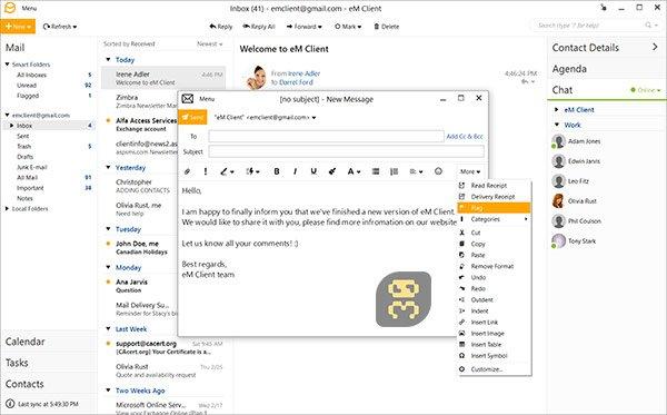 دانلود eM Client Pro 8.0.2951.0 - نرم افزار مدیریت ایمیل