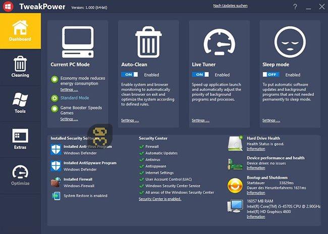 دانلود TweakPower 1.162 - بهینه سازی ویندوز