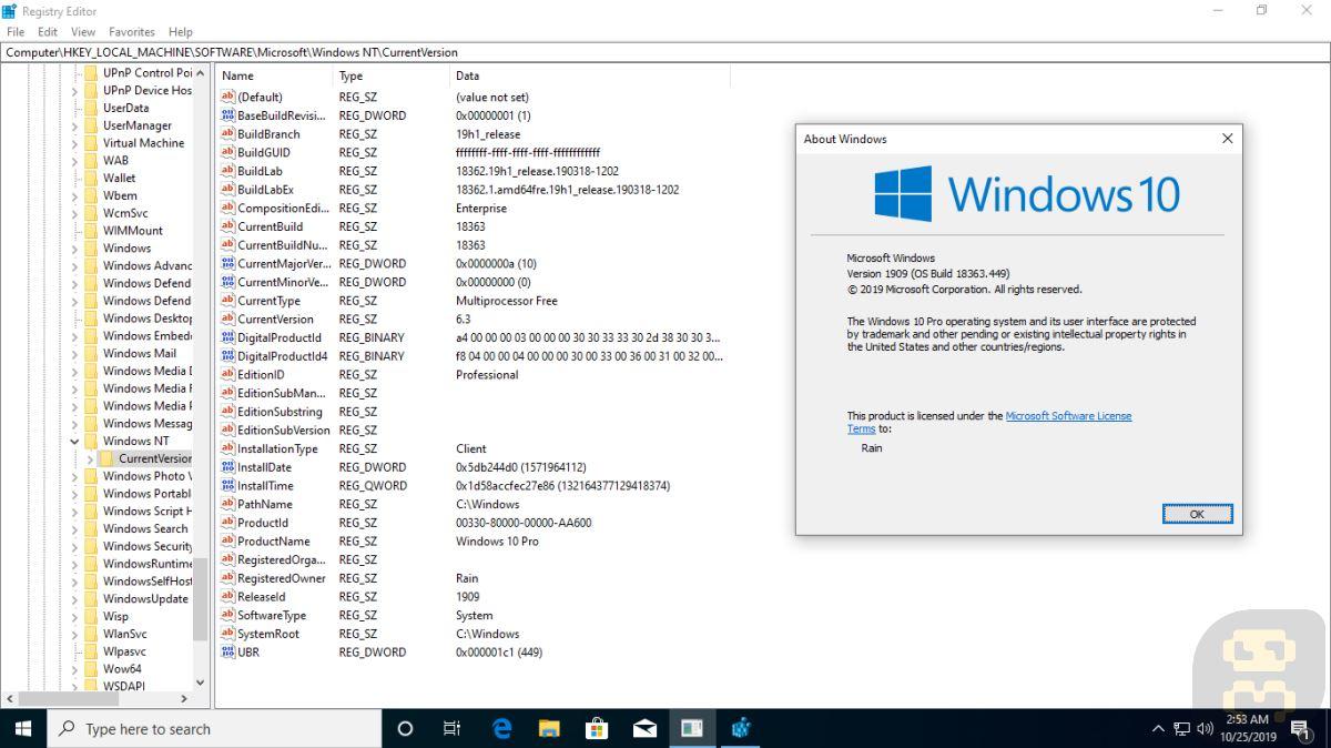 Windows 10 - Windows 10 V1909 PRO November 2019 + Crack